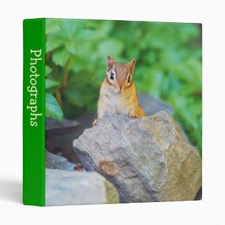 """Curious Baby Chipmunk 1"""" Photo Album Binder"""