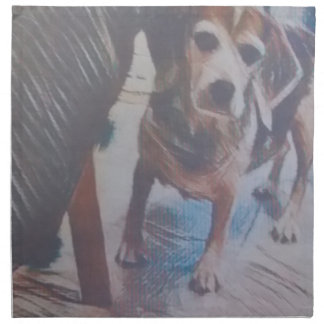 Curious Beagle Cloth Napkin