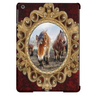 Curious Belgian Draft Horses From Below iPad Air Covers