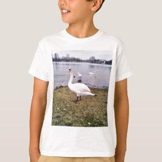 Curious Bird White Swan T-Shirt