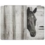 Curious Black Horse iPad Cover