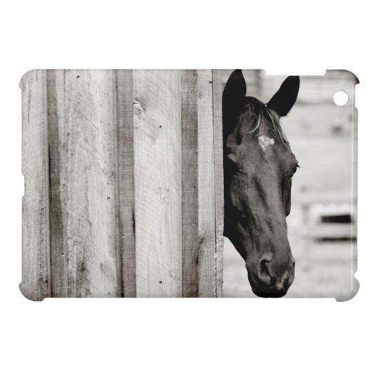 Curious Black Horse iPad Mini Covers