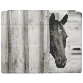 Curious Black Horse iPad Smart Cover