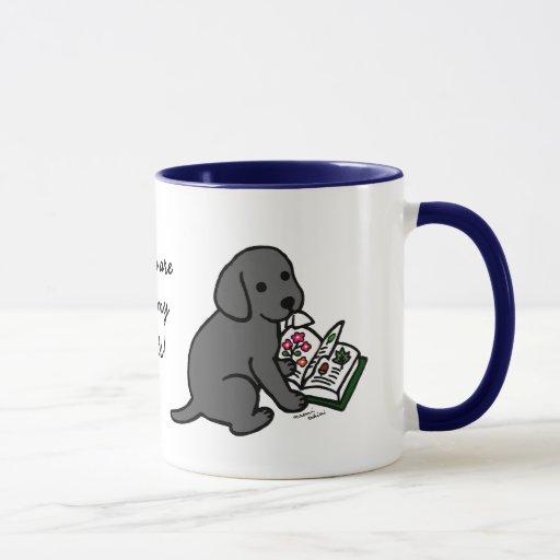 Curious Black Labrador Puppy Mug