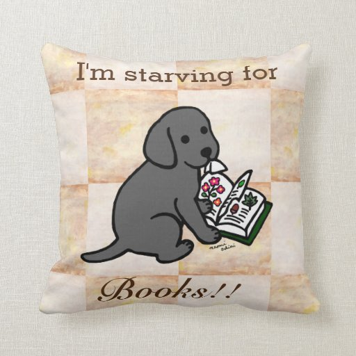 Curious Black Labrador Puppy Throw Pillow