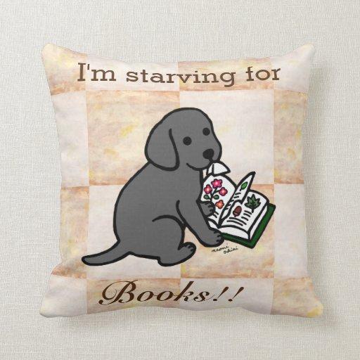 Curious Black Labrador Puppy Throw Pillow