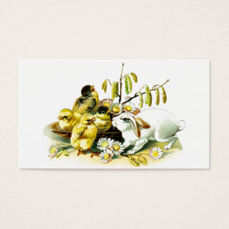 Curious Bunny and Chicks Business Card