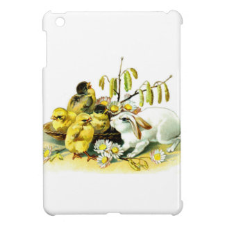 Curious Bunny and Chicks iPad Mini Covers