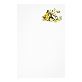 Curious Bunny and Chicks Stationery