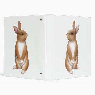 Curious Bunny Rabbit Avery Binder