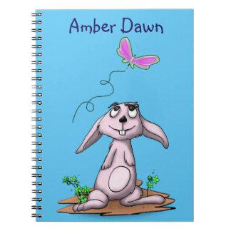 Curious Bunny Spiral Notebook