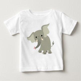 Curious Cartoon Elephant Baby T-Shirt