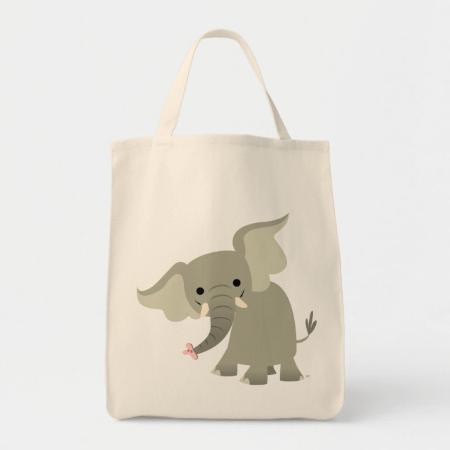 Curious Cartoon Elephant Bag