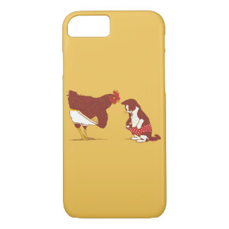 CURIOUS CAT AND CHOOK iPhone 7 Case