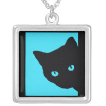 Curious Cat Necklace