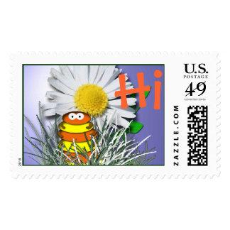 Curious Caterpillar Stamp
