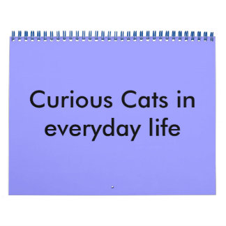 Curious Cats in everyday life - Customized Calendar