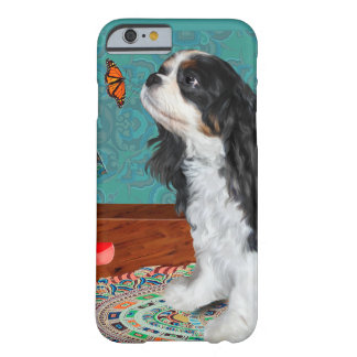 Curious Cavalier with butterfly Barely There iPhone 6 Case