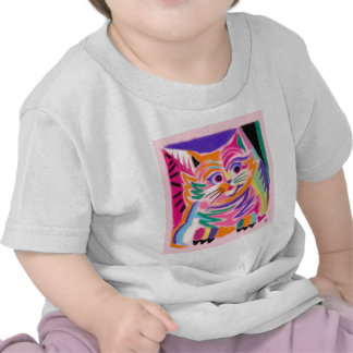 Curious Cheshire Cat 80s Retro Tshirt
