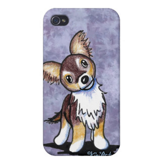Curious Chihuahua Caricature iPhone 4 Cases