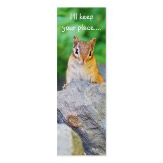 Curious Chipmunk Business Card Template