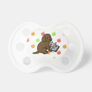 Curious Chocolate Labrador Puppy Baby Pacifier