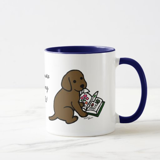 Curious Chocolate Labrador Puppy Mug