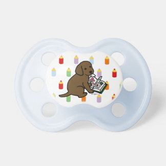 Curious Chocolate Labrador Puppy Pacifiers