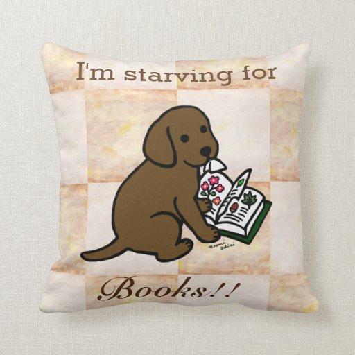 Curious Chocolate Labrador Puppy Throw Pillow