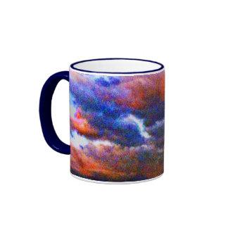 Curious Clouds Ringer Coffee Mug