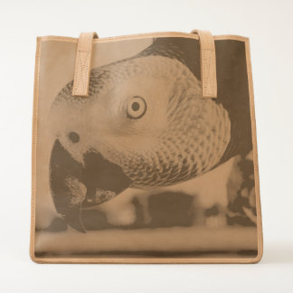 Curious Congo African Grey Parrot Tote