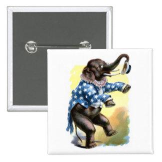 Curious Creatures - Elephant 2 Inch Square Button