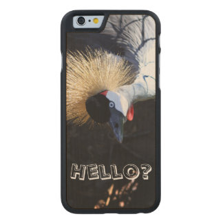 Curious Crowned Crane Answering the Phone Carved® Maple iPhone 6 Slim Case