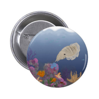 Curious Cuttlefish Pinback Button