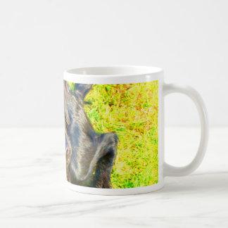 Curious dog  münster country mix coffee mug