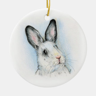 Curious Double-Sided Ceramic Round Christmas Ornament