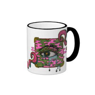 Curious eye ringer coffee mug