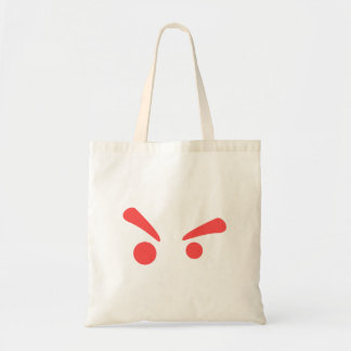 curious eyebrow raise face budget tote bag