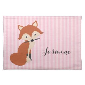 Curious Fox Cloth Place Mat