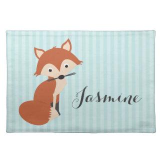 Curious Fox Cloth Placemat