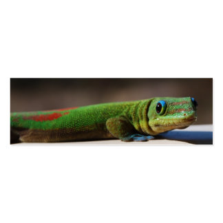 Curious Gecko  bookmark Double-Sided Mini Business Cards (Pack Of 20)