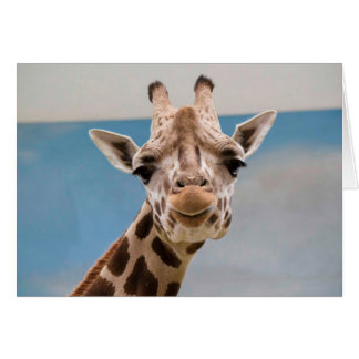 Curious Giraffe Card