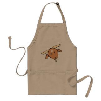 curious goat face adult apron