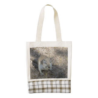 Curious Ground Squirrel Zazzle HEART Tote Bag
