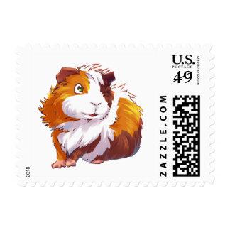 Curious Guinea Pig Stamp
