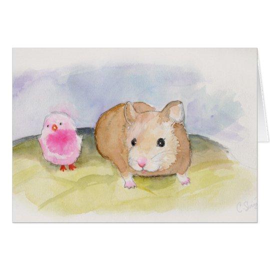 Curious Hamster Card
