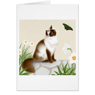 Curious Himalayan Cat Card