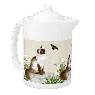 Curious Himalayan Cat Teapot