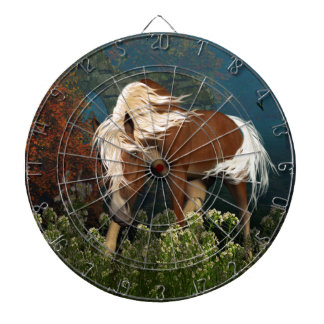 Curious Horse on a meadow Dartboards