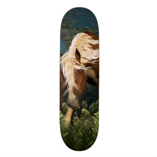 Curious Horse on a meadow Skate Boards